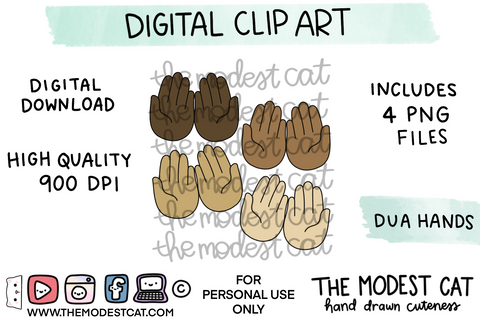Dua Hands - Digital Clip Art