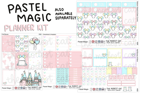 Pastel Magic Planner Kit (K6) - Erin Condren