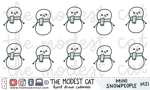 Mini Sheet - Snowpeople (M21)