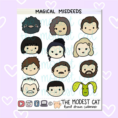 Magical Misdeeds Deco Stickers (R123)