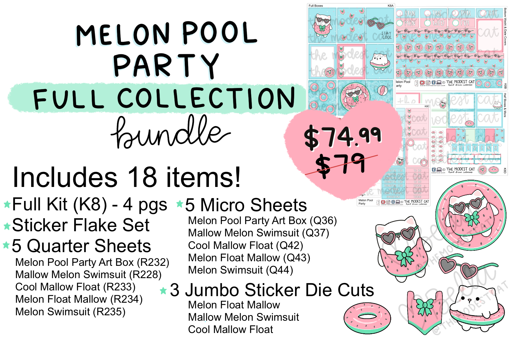 Melon Pool Party FULL Collection Bundle