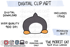 Penguin Butt - Digital Clip Art