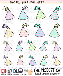 Birthday Party Hats (R172)