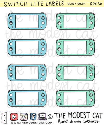 Switch Lite Labels (R203)