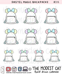Pastel Magic Backpacks (R215)