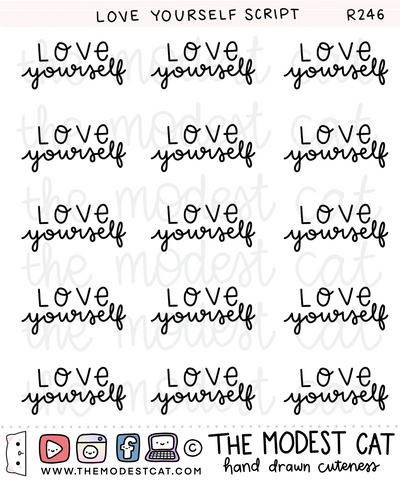 Love Yourself Script (R246)