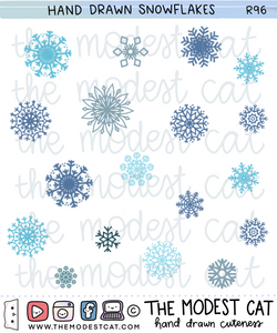 Snowflake Deco Stickers (R96)