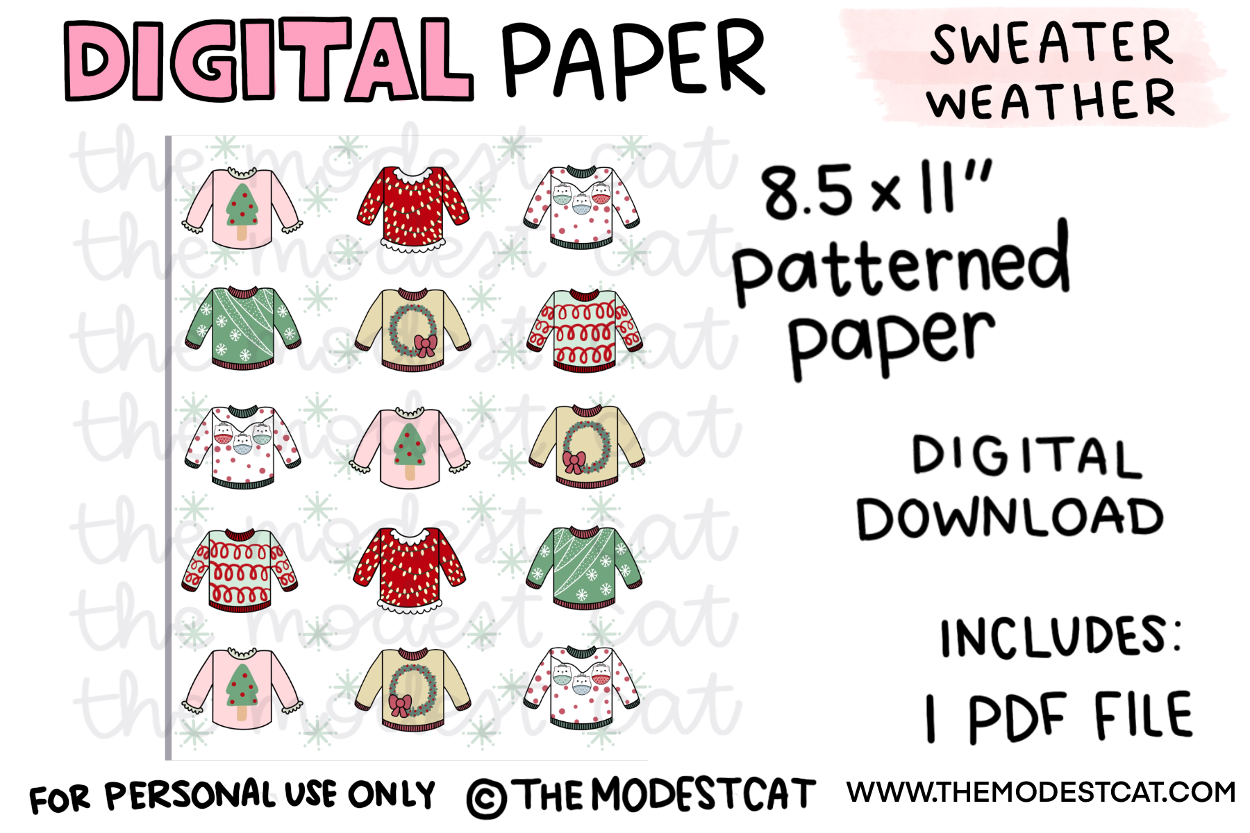 Sweater Weather Paper - Digital Download
