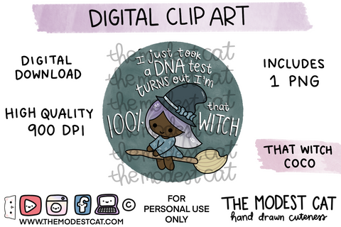 That Witch Coco - Digital Clip Art