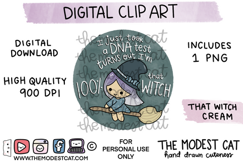 That Witch Cream - Digital Clip Art
