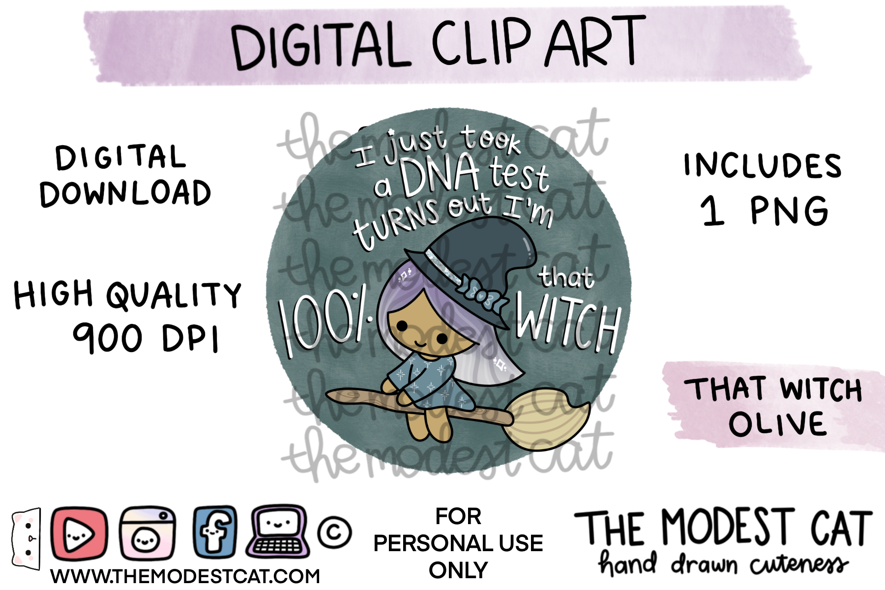 That Witch Olive - Digital Clip Art
