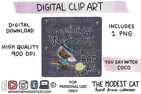 You Say Witch Coco - Digital Clip Art