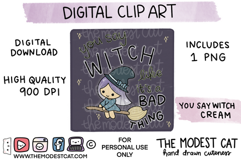 You Say Witch Cream - Digital Clip Art