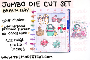 Beach Day Jumbo Die Cut Set