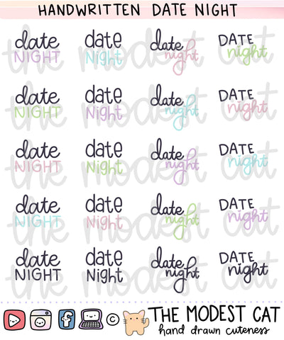 Date Night Label Stickers (R97)