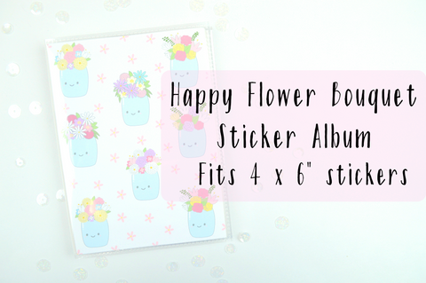 Happy Flower Bouquets Sticker Album