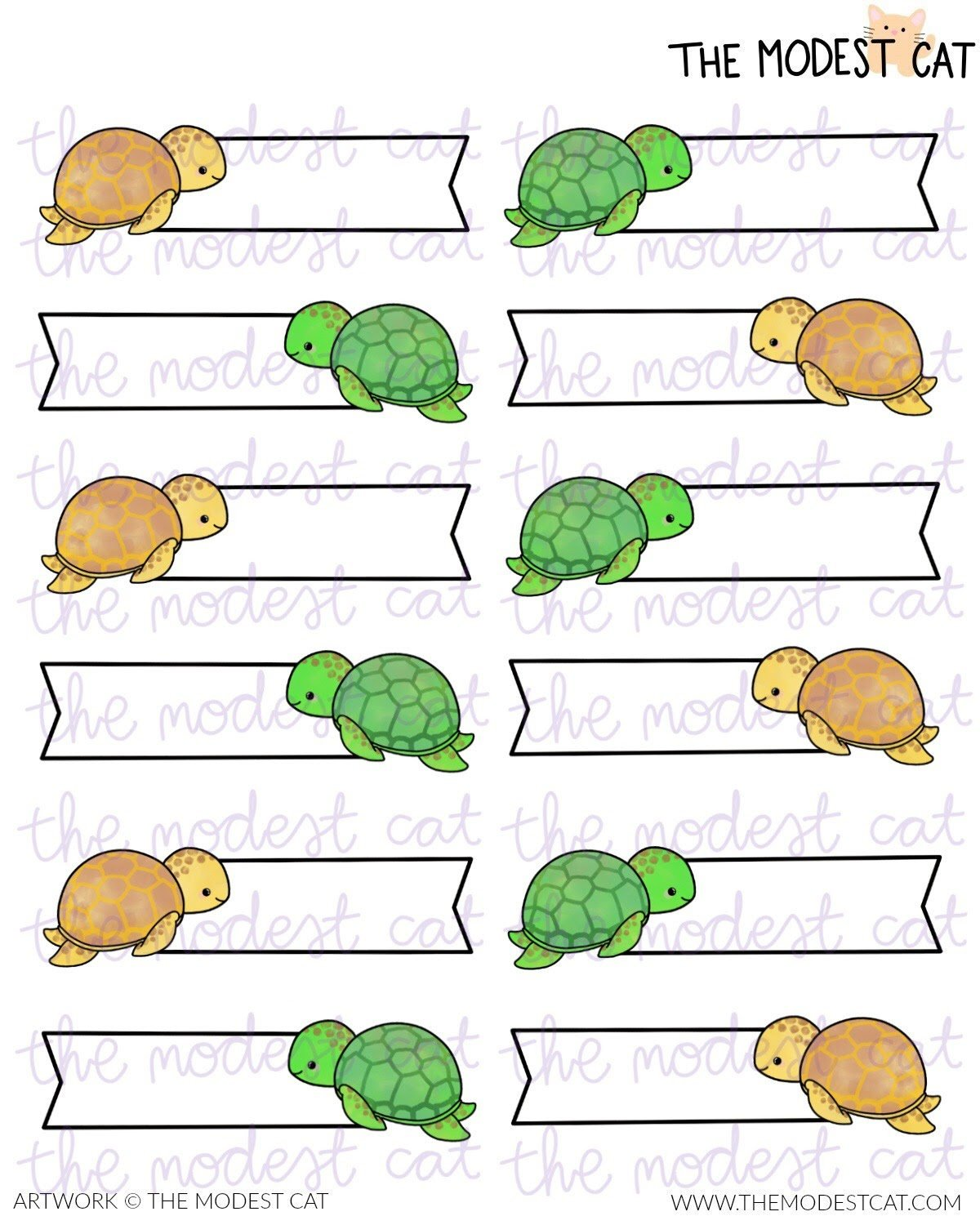 Sea Turtles Label Stickers (R63)