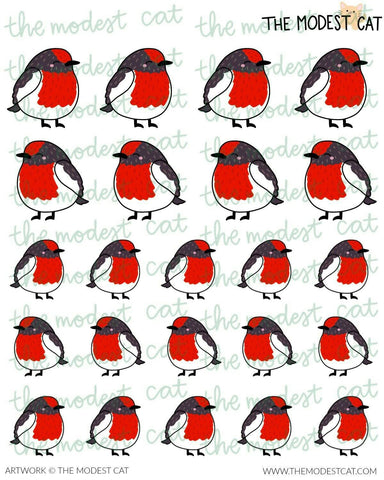 Red Robin Deco Stickers  (R20)