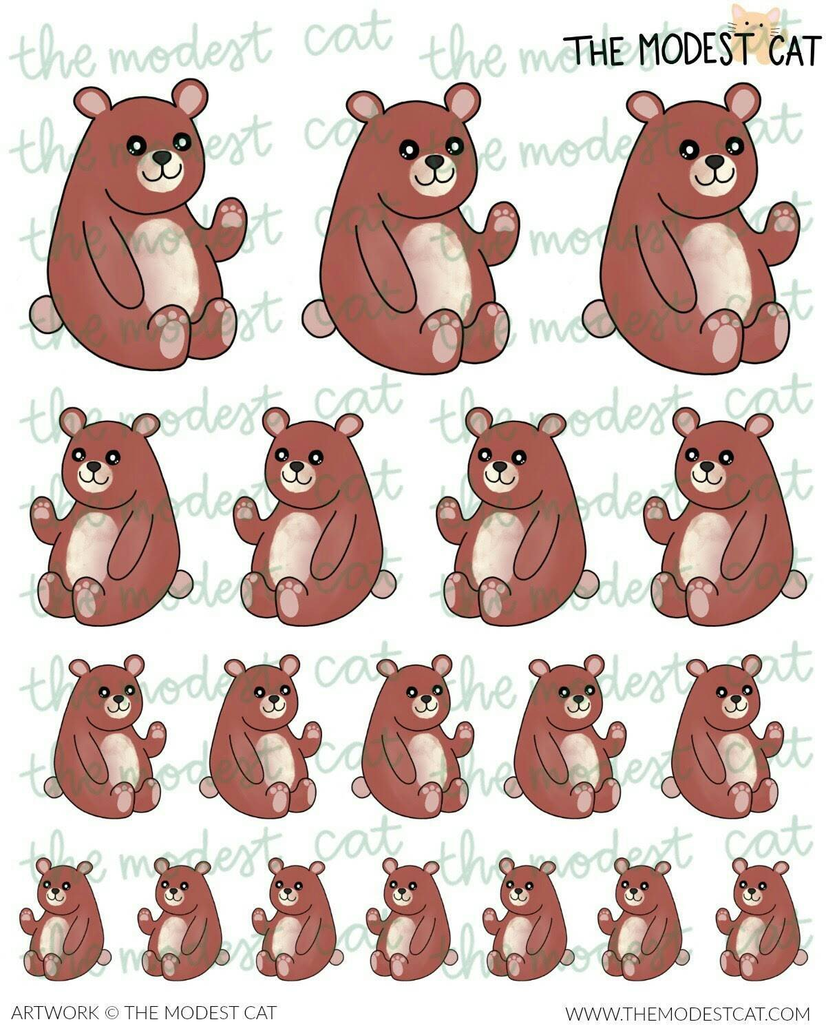Forest Bear Deco Sticker (R89)