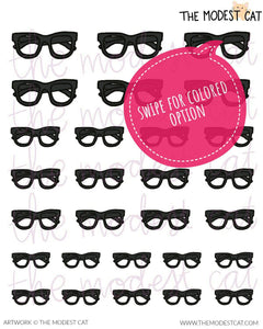 Eyeglasses Deco Stickers (R79)