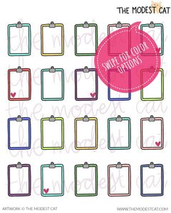 Clipboard Deco Stickers (R95)