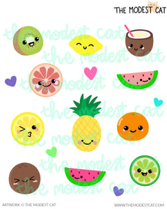 kawaii fruits Deco Stickers (R66)
