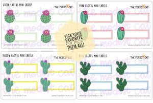 Mini sheet of Cactus Label Stickers (M2)