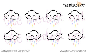 Mini Sheet Cute Pastel Rainclouds (M5)