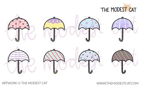 Mini sheet - Umbrellas (M19)