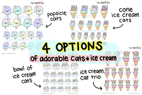 Kawaii Cats & Ice Cream (R110)
