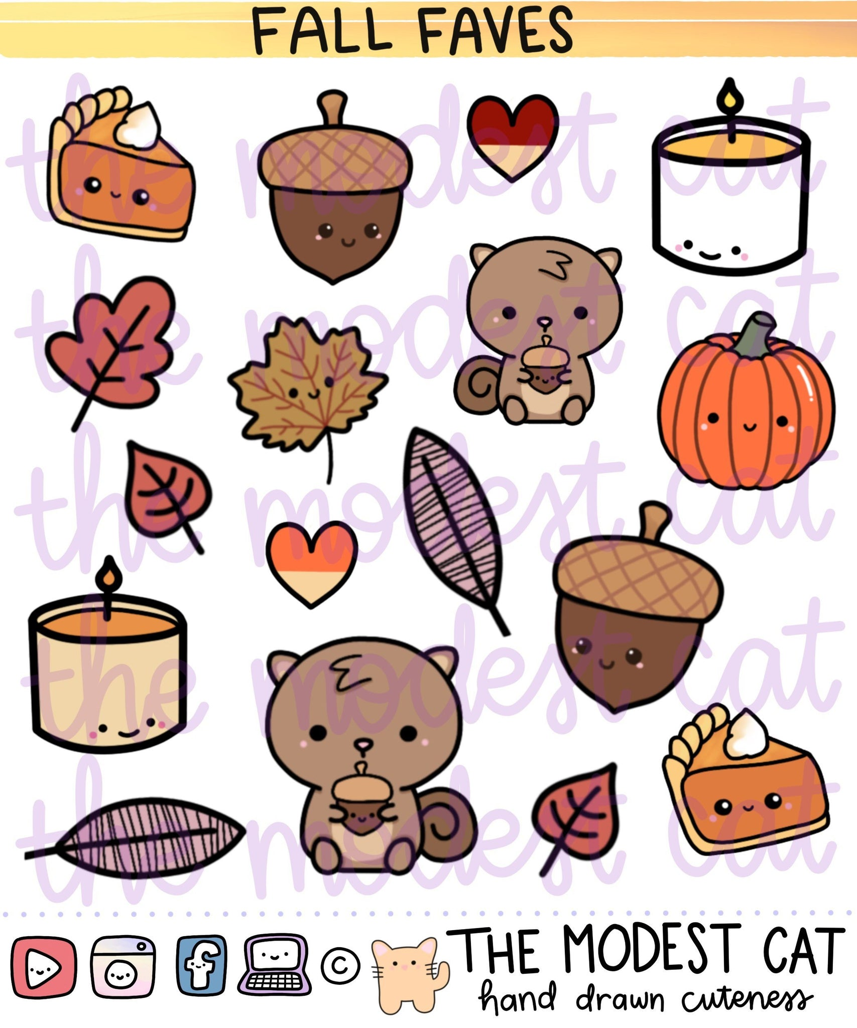 Fall Faves Deco Stickers (FF01)