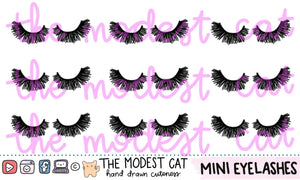 Mini Sheet- Eyelashes Deco Stickers (M14)