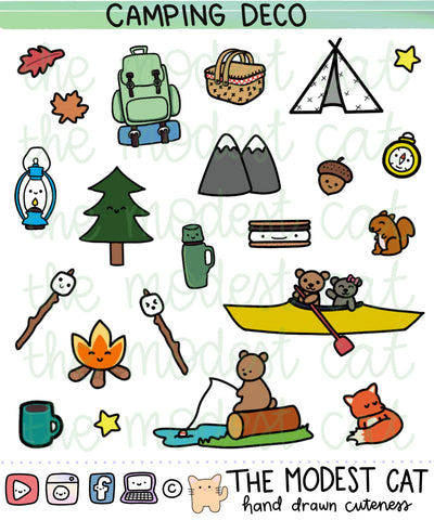 Camping / Wilderness Deco Stickers (R13)