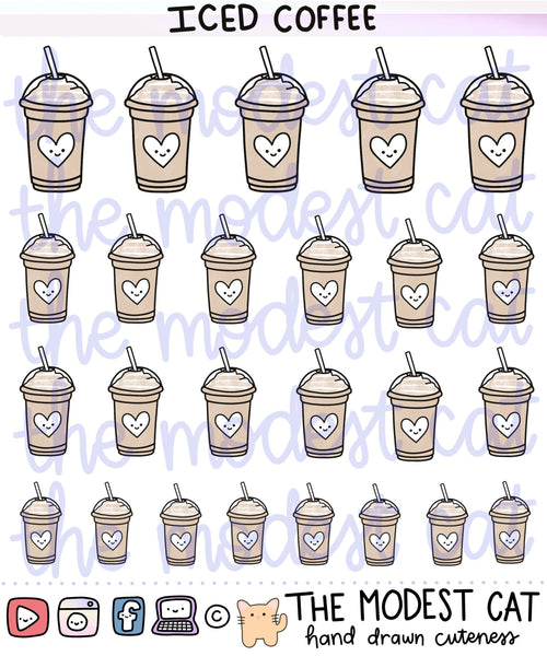 Coffee or Frap Deco Stickers (R34)