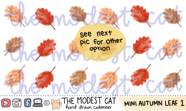 Mini Sheet Watercolor Autumn Leaf Stickers (AC09)