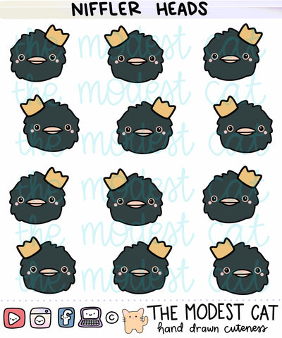 Niffler Heads Deco Stickers (R8)