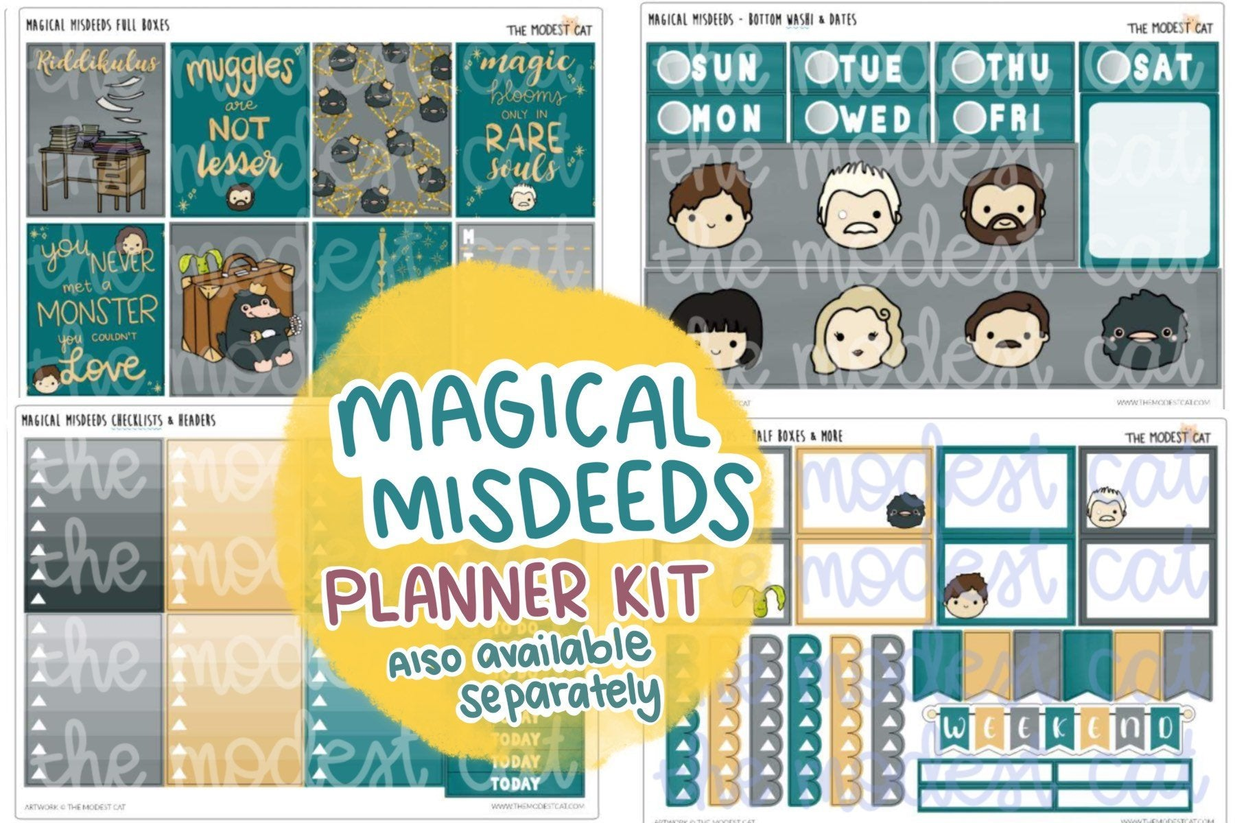 Magical Misdeeds Planner Kit (K4)