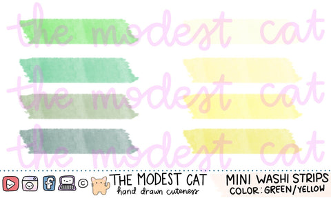 Mini Sheet - Colorful Washi Tape Stickers (M20)