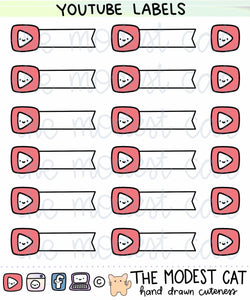 Youtube Label Stickers (R42)