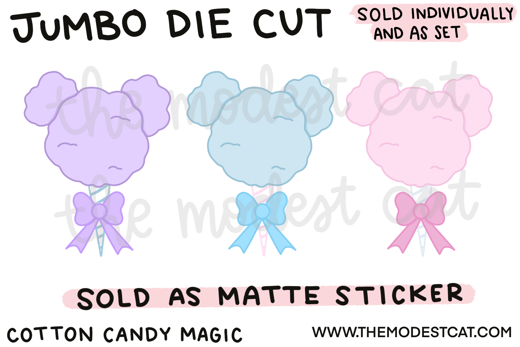 Cotton Candy Magic Jumbo Die Cut