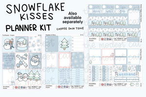 Snowflake Kisses Planner Kit (K11)-Blue & Pink Couple