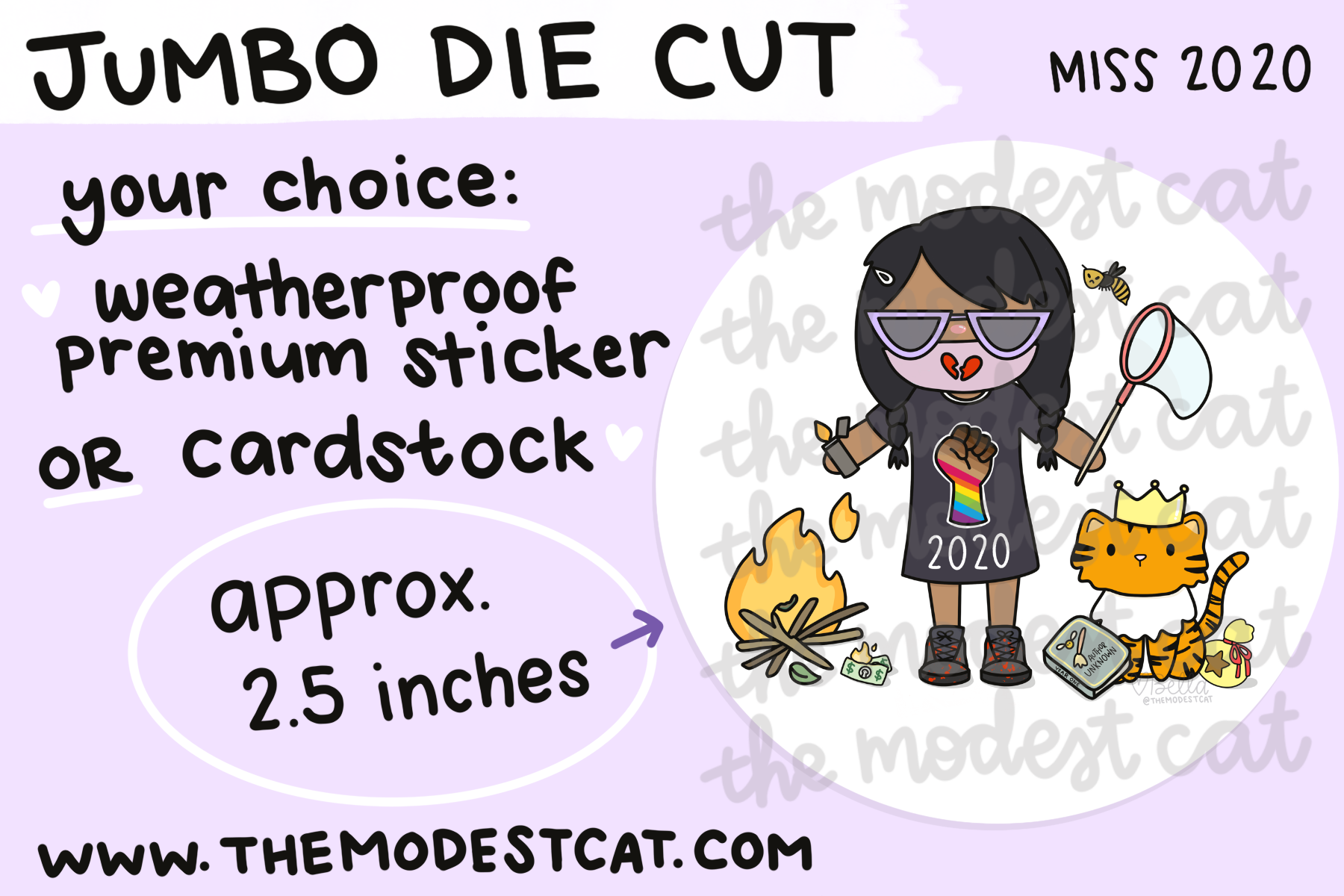 Miss 2020 - Jumbo Die Cut
