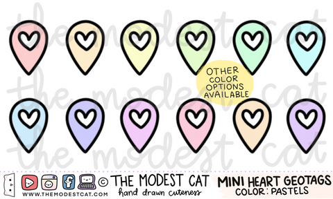 Mini sheet- Heart Geotags (M13)
