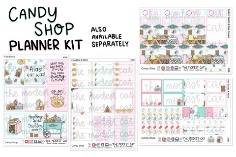 Candy Shop Planner Kit (K9)