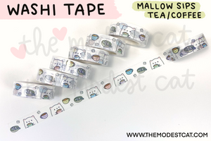 Mallow Sips Tea/Coffee Washi (W1)