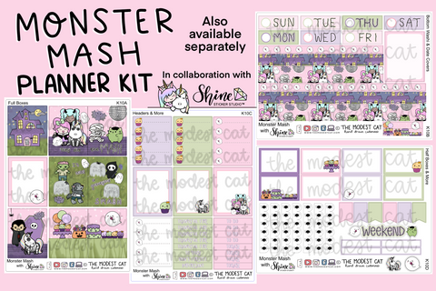 Monster Mash Planner Kit (K10) -Shine Sticker Studio Collab