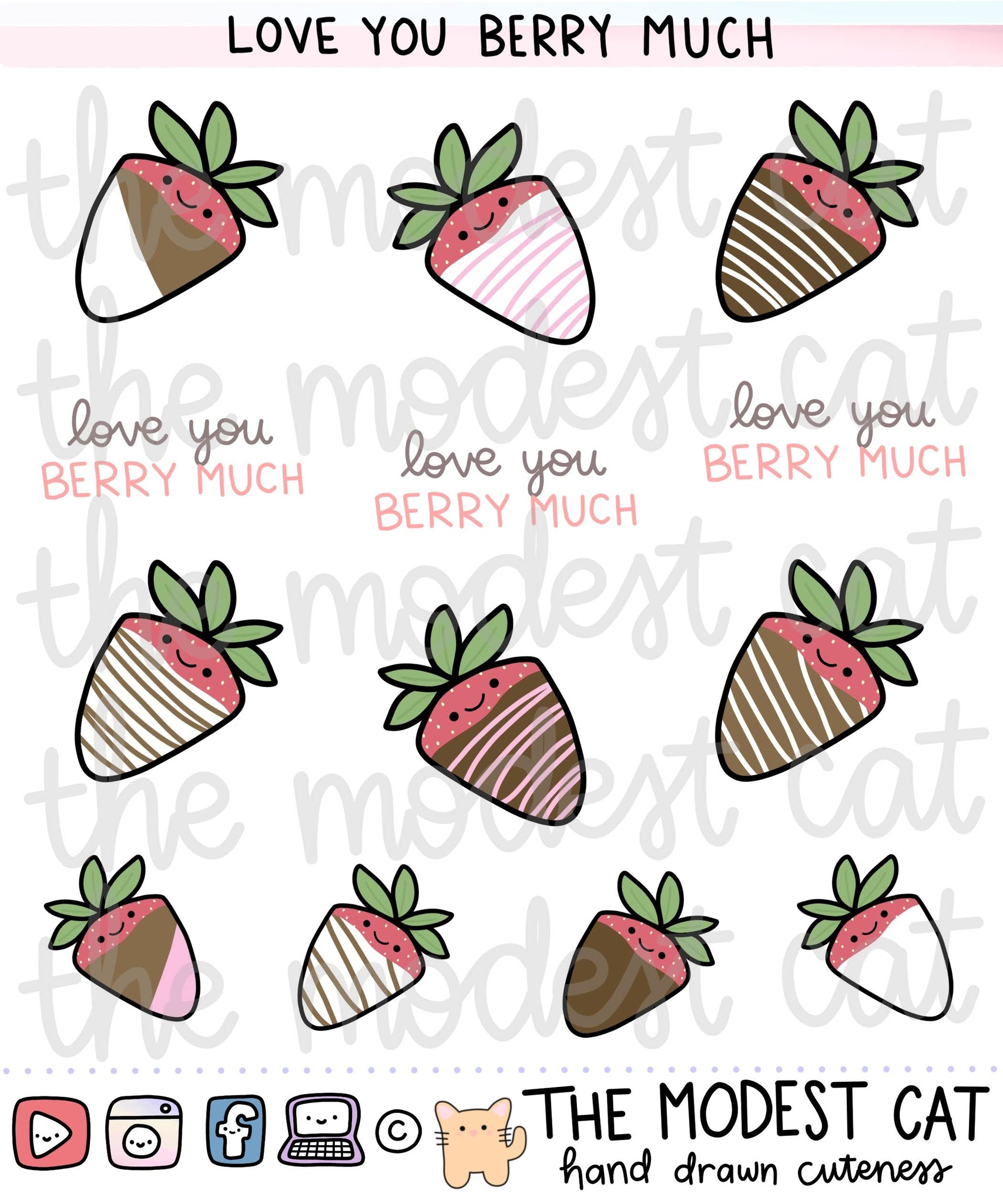 Love you Berry Much Deco Stickers (R122)