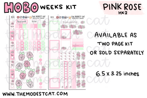 Hobonichi Weeks Kit - Pink Rose (HK2)