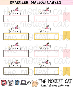 Sparkler Mallow Labels (R27)