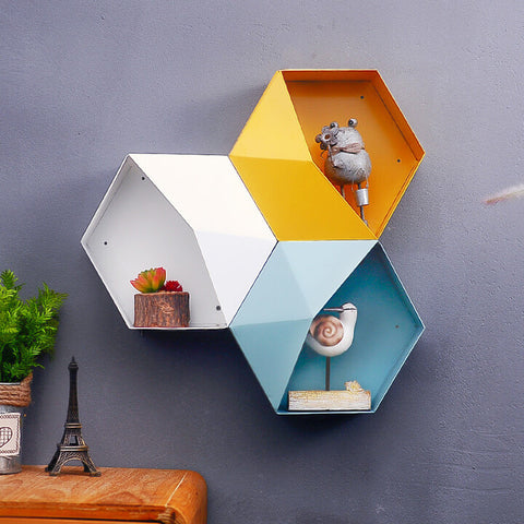 Geometric Hanging Shelf